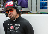 Fernando Alonso (ESP) of TOYOTA GAZOO RACING (JPN) during the 2018 Silverstone - FIA World Endurance Championship at Silverstone Circuit, Towcester, England on 19 August 2018. Photo by Vince  Mignott.