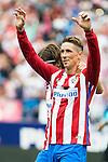 Atletico de Madrid's player Fernando Torres and Filipe Luis celebrating a goal during a match of La Liga Santander at Vicente Calderon Stadium in Madrid. September 17, Spain. 2016. (ALTERPHOTOS/BorjaB.Hojas)