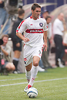 Ante Razov of the Fire had two goals against the MetroStars as Tthe Chicago Fire defeated the NY/NJ MetroStars 3-2 on 6/14/03 at Giant's Stadium, NJ...