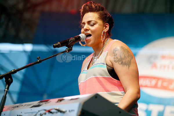 PHILADELPHIA, PA - JULY 6: Marsha Ambosius performing during day two of Taste Of Philadelphia at Penns Landing  in Philadelphia, Pa on July 6, 2013  © Star Shooter / MediaPunch Inc