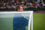New Hibernian manager Neil Lennon watching the action from the dugout as the Scottish Cup winners took on hosts Edinburgh City in a pre-season friendly at Meadowbank Stadium. The match was City's first at the Commonwealth Stadium since they gained promotion from the Lowland League to the Scottish League in May 2016. A record crowd for a City match of 2500 spectators saw the visitors run out 6-1 winners.
