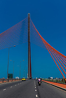 Tran Thi Ly Bridge across the Han River,  Danang, Vietnam.