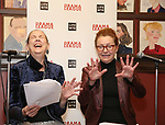 Harriet Harris and Julie White attends the 2018 Drama League Awards nominees at Sardi's on April 18, 2018 in New York City.