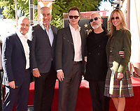 HOLLYWOOD, CALIFORNIA - DECEMBER 4: (L-R) CEO, FX Networks Group John Landgraf, Chairman and CEO Fox Television Group Gary Newman, Chairman and CEO, Fox Networks Group Peter Rice, Ryan Murphy and Chairman and CEO Fox Television Group Dana Walden attend a ceremony honoring Ryan Murphy with a star on The Hollywood Walk of Fame on December 4, 2018 in Hollywood, California. (Photo by Frank Micelotta/Fox/PictureGroup)