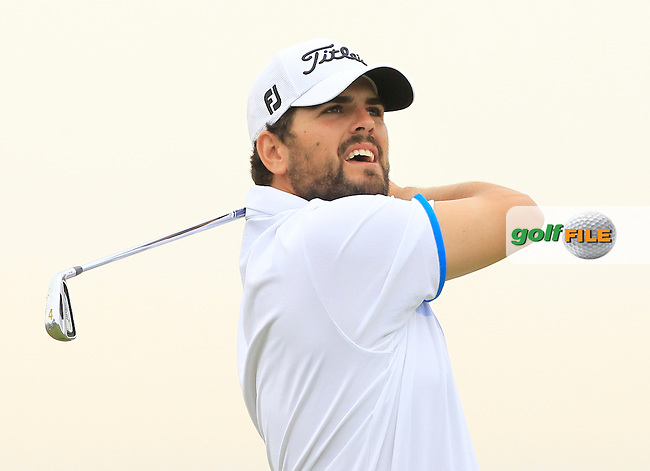Gonzalo Ganged Onieva (ESP) on the 13th tee during Round 1 of the Open de Espana  in Club de Golf el Prat, Barcelona on Thursday 14th May 2015.<br /> Picture:  Thos Caffrey / www.golffile.ie