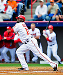 9 March 2010: Washington Nationals' infielder Cristian Guzman in action during a Spring Training game against the Detroit Tigers at Space Coast Stadium in Viera, Florida. The Tigers defeated the Nationals 9-4 in Grapefruit League action. Mandatory Credit: Ed Wolfstein Photo