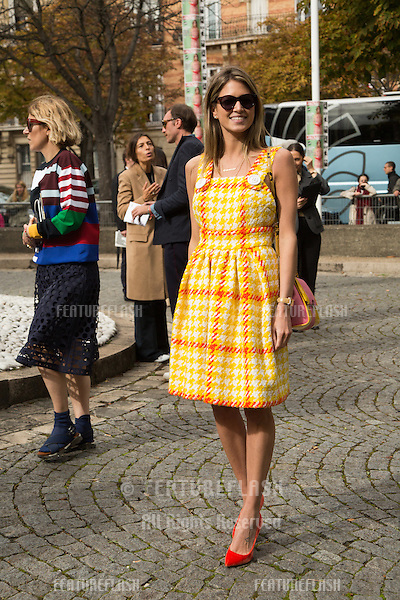 Helena Bordon attend Miu Miu Show Front Row - Paris Fashion Week  2016.<br /> October 7, 2015 Paris, France<br /> Picture: Kristina Afanasyeva / Featureflash