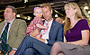 UKIP National Party Conference <br /> Day 2<br /> at Doncaster Race Course, Doncaster, Great Britain <br /> 27th September 2014 <br /> <br /> David Coburn MEP <br /> Baby <br /> Nathan Gill MEP<br /> Jana Gill (wife)<br /> <br /> <br /> <br /> Photograph by Elliott Franks <br /> Image licensed to Elliott Franks Photography Services