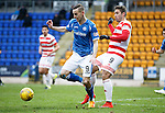 St Johnstone v Hamilton Accies....016.01.16  SPFL  McDiarmid Park, Perth<br /> Steven MacLean and Alex D'Acol<br /> Picture by Graeme Hart.<br /> Copyright Perthshire Picture Agency<br /> Tel: 01738 623350  Mobile: 07990 594431