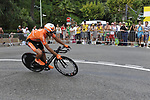 Euskaltel team rider Ruben Perez Moreno (ESP) rounds the hairpin during the 1st stage prologue of the 2009 Tour de France in Monaco, 4th July 2009 (Photo by Eoin Clarke/NEWSFILE)