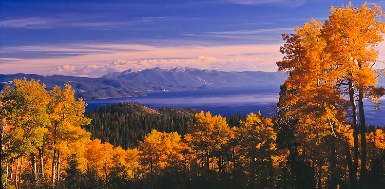 Lake Tahoe Scenic Fall Panorama