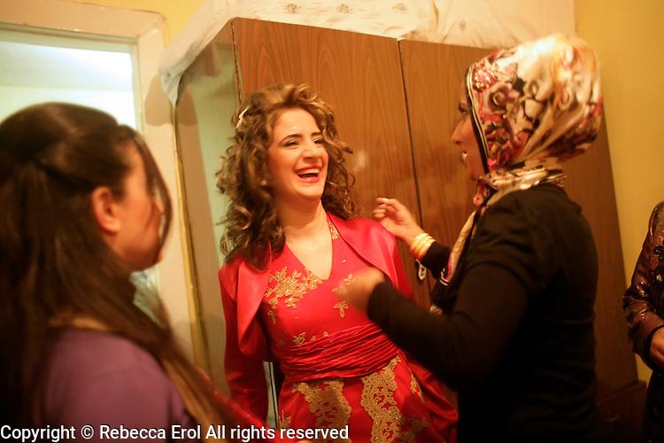Traditional Turkish wedding celebrations or the kina gecesi in Istanbul, Turkey