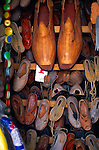 Display of leather shoes with giant pair, Mexico