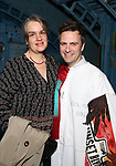 Pam MacKinnon and Manoel Felciano during the Actors' Equity Broadway Opening Night Gypsy Robe Ceremony honoring Manoel Felciano for 'Amelie' at the Walter Kerr Theatre on April 3, 2017 in New York City
