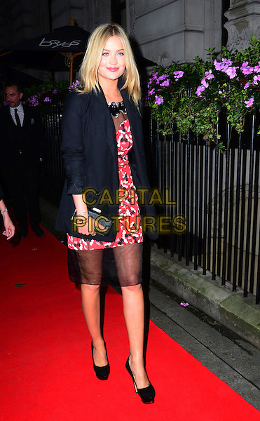 Laura Whitmore attends the Scottish Fashion Awards 2014, 8 Northumberland Avenue, Northumberland Avenue, on Monday September 01, 2014 in London, England, UK. <br /> CAP/JOR<br /> &copy;Nils Jorgensen/Capital Pictures