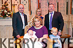 Baby Sinead Anne Stack with her parents William & Catherine Stack, Listowel and god parents Martin Stack & Tara Carmody and brother Noel  who was Christened at St. Mary's Church, Listowel on December 27th by Canon Declan O'Connor and afterwards at the Listowel Arms Hotel.