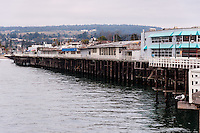 United States, California, Santa Cruz. The Santa Cruz Wharf.