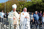 Pictured  heading to the alter at St Mary's Well on Ballyheigue Pattern Day was the Bishop of Kerry Ray Browne