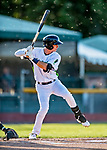 29 August 2019: Vermont Lake Monsters infielder Logan Davidson leads off the first inning against the Connecticut Tigers at Centennial Field in Burlington, Vermont. The Lake Monsters fell to the Tigers 6-2 in the first game of their NY Penn League double-header.  Mandatory Credit: Ed Wolfstein Photo *** RAW (NEF) Image File Available ***