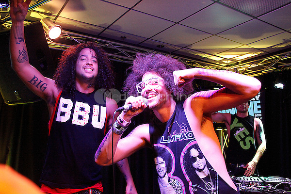 LMFAO performing at Q102's performance Theater in Bala Cynwyd, Pa on August 17, 2011  © Star Shooter / MediaPunchInc