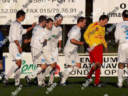 2008-12-07 / Voetbal / KFC Katelijne - Oosterzonen / Angelo Convalle scoorde voor Katelijne..Foto: Maarten Straetemans (SMB)