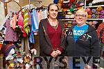 Maria McCarthy and Elayne Van Keulen at the Maria Elizabeth Wool Shop on Bridge Place, Tralee on Thursday.