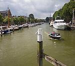 Boats in Wijnhaven, Wine harbour, Dordrecht, Netherlands