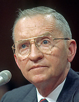 ***FILE PHOTO*** Ross Perot Has Passed Away At 89.<br /> Former third-party candidate for President of the United States Ross Perot testifies before the Joint Committee on the Organization of Congress on Capitol Hill in Washington, DC on Tuesday, March 2, 1993. In his testimony, Perot advised the committee to eliminate special privileges afforded to Members, such as overdraft protection at their own bank, and to set new ethical standards designed to restore the people's confidence in the institution.<br /> CAP/MPI/RS<br /> ©RS/MPI/Capital Pictures