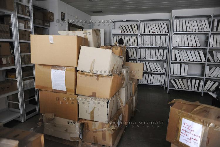 Roma, Maggio 2011.Archivio Giudiziario della corte D'Assise.Le Carte relative ai processi per la strage di Ustica