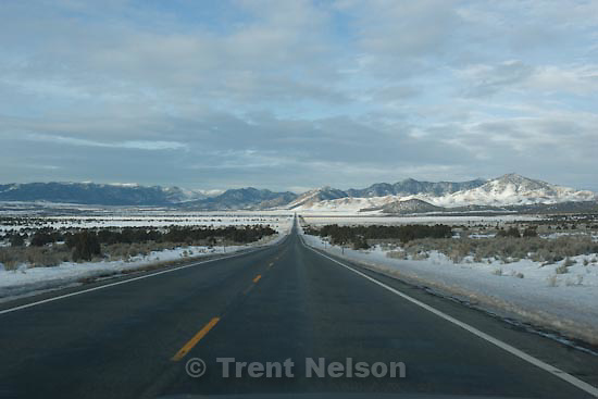 Driving north to Eureka from Delta, Tuesday, January 5, 2010.