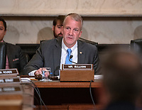 United States Senator Dan Sullivan (Republican of Alaska) hears testimony before the United States Senate Committee on Armed Services Subcommittee on Readiness and Management Support during a hearing titled &quot;US Air Force Readiness&quot; on Capitol Hill in Washington, DC on Wednesday, October 10, 2018.<br /> Credit: Ron Sachs / CNP /MediaPunch