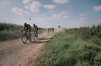 Rob Peeters (BEL/Pauwels sauzen - Vastgoedservice) over a gravel section<br /> <br /> 92nd Schaal Sels 2017 <br /> 1 Day Race: Merksem &gt; Merksem (188km)