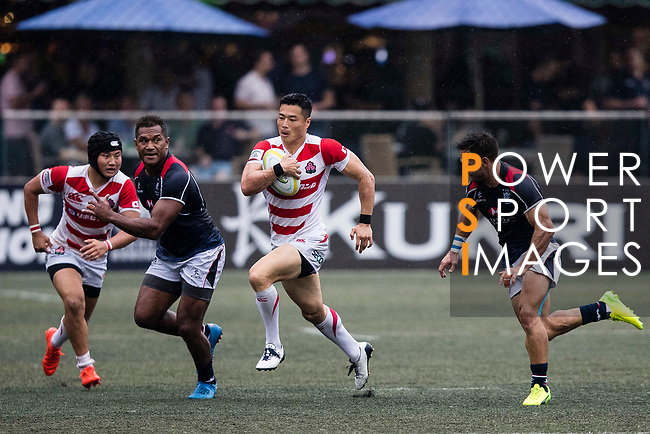 Akihito Yamada of Japan (C) in action during the Asia Rugby Championship 2017 match between Hong Kong and Japan on May 13, 2017 in Hong Kong, Hong Kong. (Photo by Cris Wong / Power Sport Images)