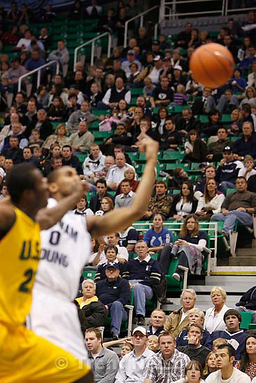 BYU vs. USF college basketball, Saturday, December 5 2009 at EnergySolutions Arena in Salt Lake City. fans