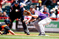 May 31, 2009:  First Baseman Beau Mills of the Akron Aeros in the field during a game at Jerry Uht Park in Erie, NY.  The Aeros are the Eastern League Double-A affiliate of the Cleveland Indians.  Photo by:  Mike Janes/Four Seam Images