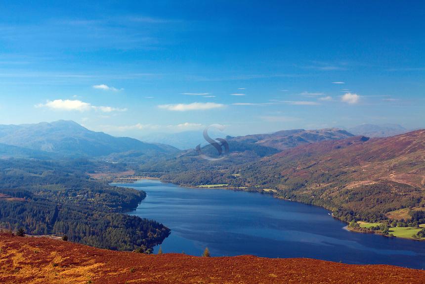 Loch Venachar and Ben A'an from Ben Gullipen, Loch Lomond and the Trossachs National Park, Stirlingshire