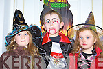 Afhten O'Meara Killarney, Cian O'Mahony Kilcummin and Chloe Looney Killarney looking scary at the Knocknagoshel Halloween festival on Sunday night