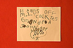 Child's note about cookies