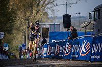 Tom Pidcock (GBR/U23/Telenet Fidea Lions) winning the U23 race<br /> <br /> Koppenbergcross / Belgium 2017