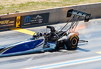 Jul 23, 2017; Morrison, CO, USA; NHRA top fuel driver Terry Haddock during the Mile High Nationals at Bandimere Speedway. Mandatory Credit: Mark J. Rebilas-USA TODAY Sports