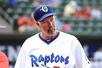 Ogden Raptors manager Jack McDowell prior to the game against the Orem Owlz in Pioneer League action at Lindquist Field on August 20, 2014 in Ogden, Utah.  (Stephen Smith/Four Seam Images)