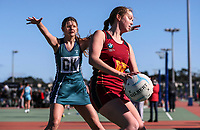 Action from the Premier netball match between Kings College and Glendowie College at the Auckland Netball Centre in Mt Wellington, Auckland, New Zealand on Saturday, 29 July 2017. Photo: Simon Watts / www.bwmedia.co.nz