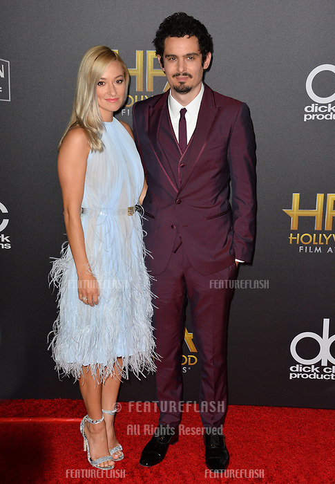 LOS ANGELES, CA. November 04, 2018: Damien Chazelle &amp; Olivia Hamilton  at the 22nd Annual Hollywood Film Awards at the Beverly Hilton Hotel.<br /> Picture: Paul Smith/Featureflash
