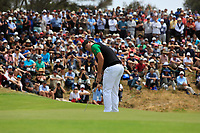 Sungjae Im (International) on the 4th green during the Second Round - Foursomes of the Presidents Cup 2019, Royal Melbourne Golf Club, Melbourne, Victoria, Australia. 13/12/2019.<br /> Picture Thos Caffrey / Golffile.ie<br /> <br /> All photo usage must carry mandatory copyright credit (© Golffile | Thos Caffrey)