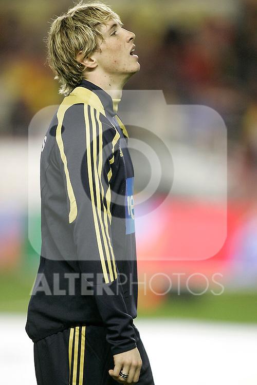 Spain´s Fernando Torres before an international friendly, February 11, 2009. (ALTERPHOTOS).