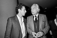 - Francesco Rutelli, secretary of the Radical Party, and Marco Pannella at XXIV Congress in November 1980....- Francesco Rutelli, segretario del Partito Radicale e Marco Pannella al XXIV congresso del novembre 1980