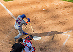 30 April 2017: New York Mets catcher Rene Rivera at bat in the 8th inning against the Washington Nationals at Nationals Park in Washington, DC. The Nationals defeated the Mets 23-5 in the third game of their weekend series. Mandatory Credit: Ed Wolfstein Photo *** RAW (NEF) Image File Available ***