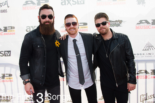 Memphis May Fire attends the 2014 AP Music Awards at the Rock And Roll Hall Of Fame and Museum at North Coast Harbor in Cleveland, Ohio.