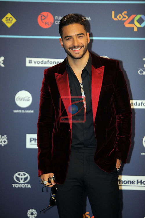 Los 40 MUSIC Awards 2016 - Photocall.<br /> Maluma.