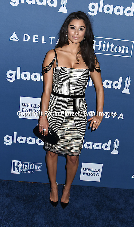 Diane Guerrero attends the 27th Annual GLAAD Media Awards on May 14, 2016 at the Waldorf Astoria Hotel in New York City, New York, USA.<br /> <br /> photo by Robin Platzer/Twin Images<br />  <br /> phone number 212-935-0770